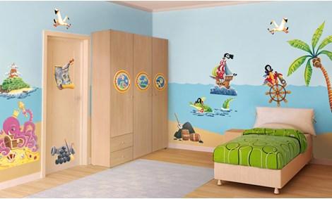 Camerette per bambini a tema mare leostickers - Decorazioni murali per camerette bambini ...